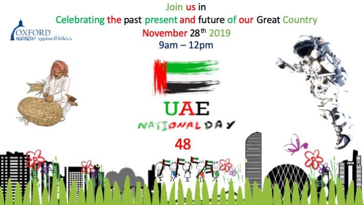 Oxford Nursery celebrating the UAE National Day on 28th November 2019